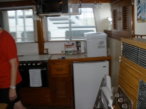This is how the galley looked when we first bought her...