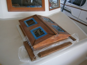 My current project is the forward hatch (affectionately know as the doghouse).