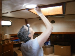 varnishing forward stateroom