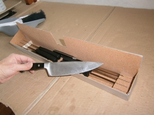 See how lovely my knives are...and don't they fit so perfectly in their new homes...