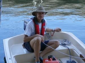 Boyd in dinghy