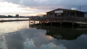 This is the Hard Dock Restaurant that sits right at the Decatur Marina