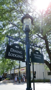 lamppost sign